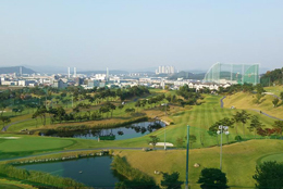 TCIS campus hill overlooking Techno Valley, Daejeon