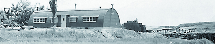 Quonset hut academic building on KCA campus