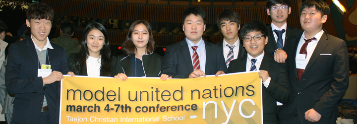 TCIS students at MUN conference in New York City
